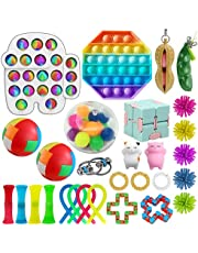 SFM Sensory Fidget Toys Set, for Adults and Kids, Stress Relief and Anti Anxiety Toys, Cool Fidget Toys Set 29 pcs, Safe Fidget Toys, Fidget Cube to Improve Attention