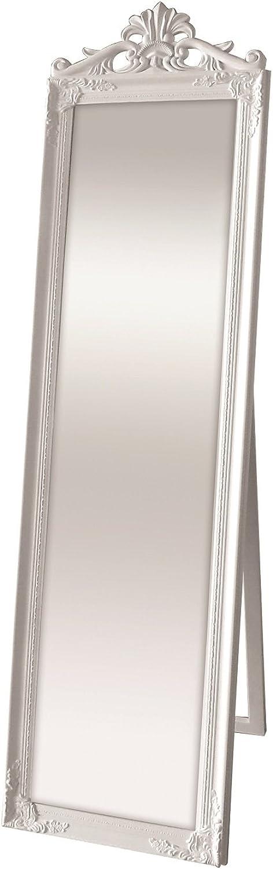 Innova Editions Kensington White Cheval Mirror with Crown, Multi-Colour, 30 x 30 x 2.5 cm