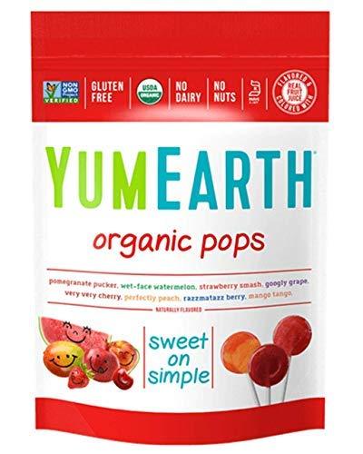 Yummyearth Organic Lollipops Assorted Flavors 3 oz 14 Pops