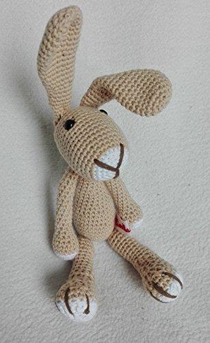 Hase Samy - beige - BIO Wolle - tolles Kuscheltier Geschenk für Kinder