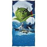 chillChur-DD Bath Towel Come il Grinch ha rubato il telo da Piscina in Microfibra natalizia Asciugamano da bagno ad asciugatura rapida Asciugamano da doccia - Assorbimento d'acqua