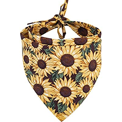KZHAREEN Dog Bandana Reversible Triangle Bibs Scarf Accessories for Dogs Cats Pets