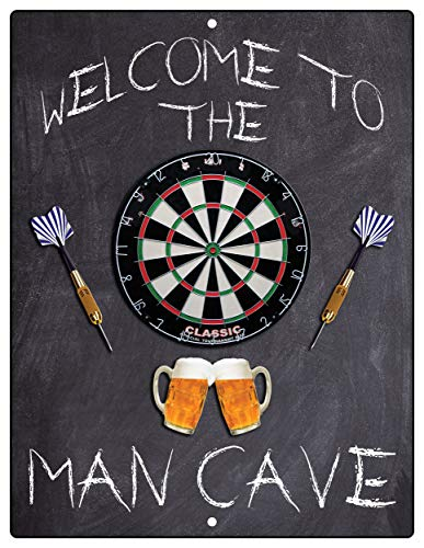 Flag Emotes Welcome to The Man Cave Dartboard Dart...
