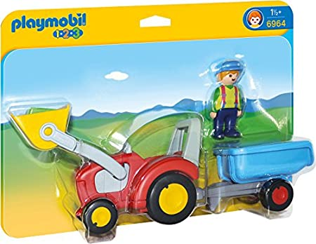 PLAYMOBIL 1.2.3 - 6964 Traktor mit Anhänger