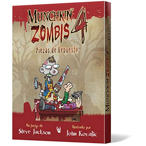 Edge Entertainment- Munchkin Zombis 4: Piezas de Repuesto - Español, Color (EESJMZ04)