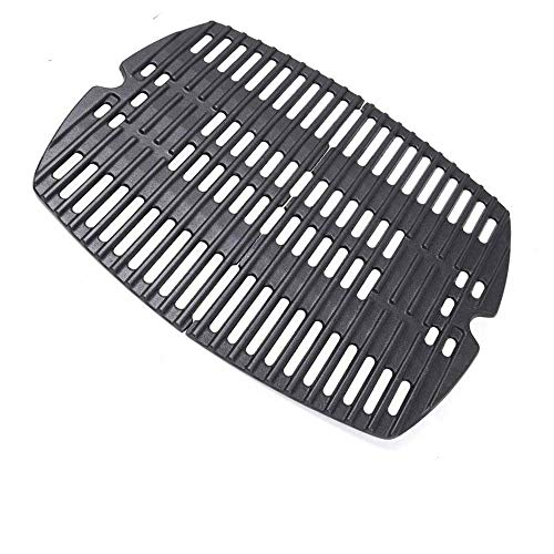 Uniflasy 7644 Cast Iron Cooking Grates for Weber Q100, Q1000, Q120, Q1200, Q1400, 516001, 516002, 50060001, 51010001, 51060001, Baby Q Gas Grill, 2 Pack
