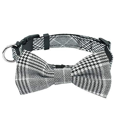 LHKMGH Collar De Perro De Perrito Bowtie De Moda, Caballero Bowknot Gatito Cuello De Gato Ajustable para Pequeños Gatos Medios Perros Chiahuahua,30~38cm
