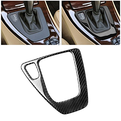 Soft Carbon Fiber Car Control Gear Box Shift Panel Frame Cover Sticker for BMW E90 3 Series 2005-2012 318i 320i 325i 330i 335i