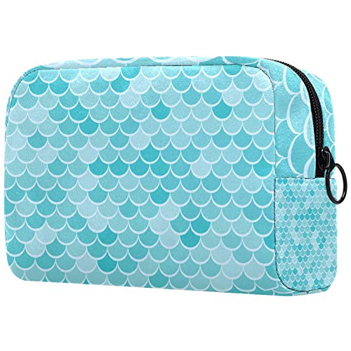 ATOMO Makeup Bag, Fashion Cosmetic Travel Bag Large Toiletry Bag Makeup Organizer for Women, Green Mermaid Fish Scale