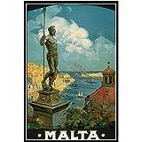 PDFKE Europa Tourismus Reise Poster Malta Classic
