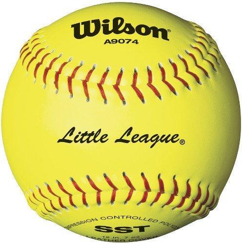 Wilson A9274Poco Liga Softball (12Unidades), 11Pulgadas, Fibra Amarillo