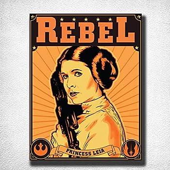 Princess Leia Rebel Vintage Tin Sign Bar Pub Home Metal Poster Wall Art Decor TIN Sign 7.8X11.8 INCH