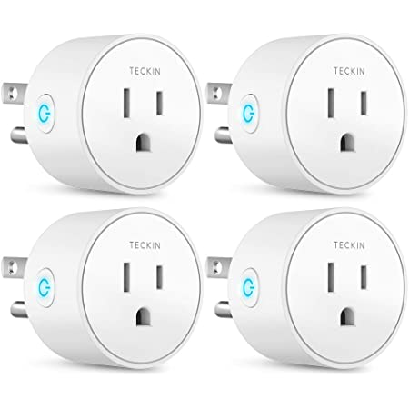 A Certified Compatible with Alexa Only WiFi 2.4G Smart Plug Amysen Echo /& Google Home New 4 Pack