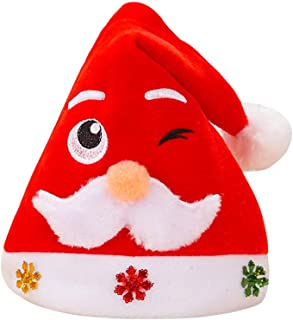 Warm Hats for Women Winter - Yezijin Adult Child Christmas Hat Santa Cap Christmas Role Playing Holiday Xmas Party