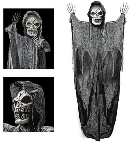 PREXTEX Calavera de la Parca Colgante de 183 cm, el Mejor Decorado de Halloween