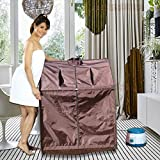 Kawachi Portable Steam Sauna Bath for Health and Beauty Spa at Home (i03-Chocolate Brown)