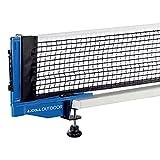 JOOLA Tischtennisnetz Outdoor Garnitur Freizeitsport - Netzspannung verstellbar in praktischer Tasche, Blau, one size