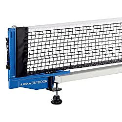 JOOLA Outdoor Weatherproof Table Tennis Net and Post Set