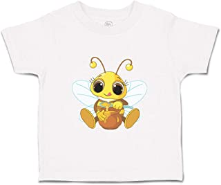 Custom Baby & Toddler T-Shirt Bee with Honey Pot Animals Cotton Boy Girl Clothes