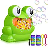 Titiyogo Bubble Machine Automatic Frog Bubble Blower Machine Make Over 500 Bubbles per Minute for Kids Boys Girls for Christmas, Parties and Wedding with Bubble Solution (2x120ml)