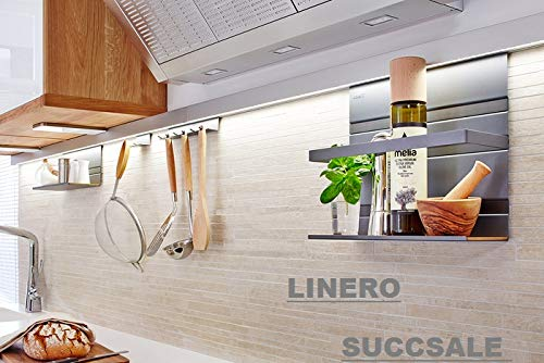 Linero SUCCSALE- LED- Stick 383 mm MosaiQ inkl. Diffusor einfach Montage Sticks durch integriertes Stecksystem nahtlos kombinierbar und dadurch in der Länge variabel B- 383 x T- 12,50 x H- 10,25 mm