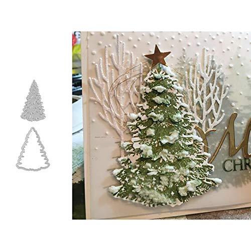 Weihnachten Stanzschablone Weihnachtsbaum Stanzbögen Stanzmaschine Stanzformen für Scrapbooking Kartenbastel Silber