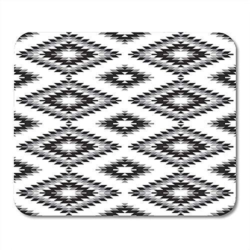 QDAS muispads Turkse tapijt-grijze patchwork-mozaïek-oosterse kelim met traditionele geometrische volkomenonderlegger voor notitieboeken matten
