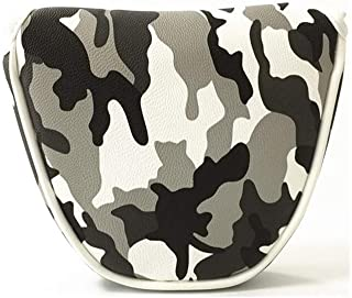 Isafish Lightweight Golf Mallet Putter Cover Headcover Golf Accessory Gray Camouflage