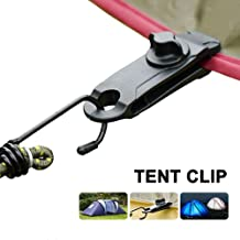 LXDZXY Dekzeil Tent Clip,5 Stks Verstelbare Plastic Heavy Duty Winddicht Luifel Klem Grip Outdoor Tarp Clips/Zwart/Uniform...