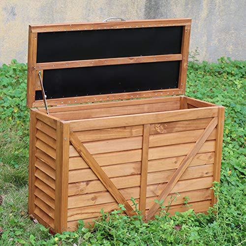 ZHOUAICHENG Outdoor Holzschrank Werkzeug Gartenhaus Werkzeug Balkon Korrosionsschutz Regenfest Belüftet Belüftet Massivholz Lagerschrank