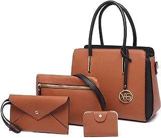 YeumouG Handtasche Damen Shopper Schwarz Groß Schultertasche Umhängetasche Lederhandtasche Damen Business-Tasche Geldbörse...