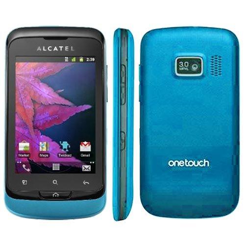 Alcatel One Touch Mix 918D Smartphone (8,1 cm (3,2 Zoll) Touchscreen, 3,2 Megapixel Kamera, Dual-SIM, Android 2.3) blau/weiß