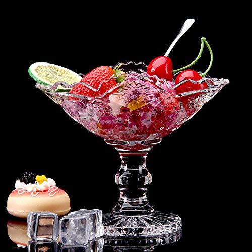 Copa de helado, copa grande de postre de cristal, ensaladera europea creativa sin plomo, copa de batido, copa de postre de helado-A1
