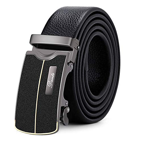 Xme Cinturón de cuero para hombres, cinturón de negocios con hebilla automática, cinturón casual...
