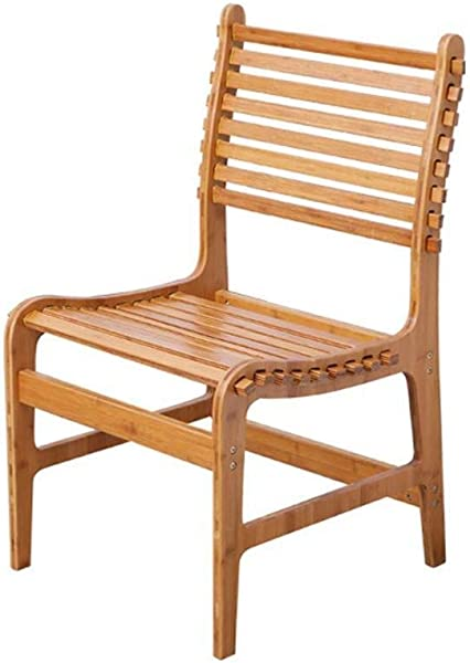 Carl Artbay Wooden Footstool Bamboo Folding Chair Dining Chair Office Chair Portable Bamboo Chair Solid Bamboo Sofa Chair Back Chair Beach Chair Home