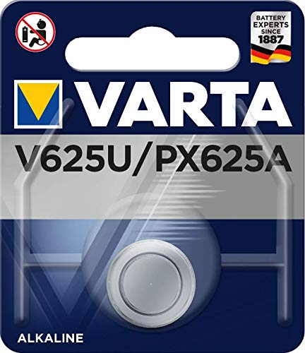 Varta Alkaline Knopfzelle (V625U, 1er Pack) blau
