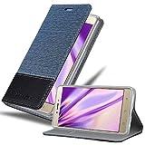 Cadorabo Coque pour Lenovo K6 Note en Bleu FONCÉ Noir – Housse Protection avec Fermoire Magnétique, Stand Horizontal...