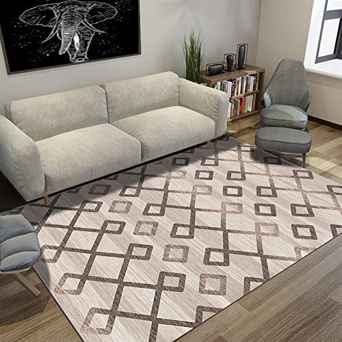 AUXING Europäische Geometrische Musterkinder des Teppichs, Die Moderne Kreative Bodenmatte Kriechen50 * 80 cm