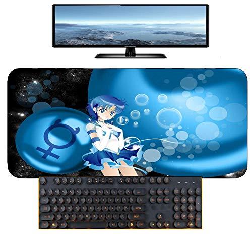 Mauspads,Sailor Moon Mizuno Ami Anime Sicherheit Multifunktions Spiel Büro Computer Tastatur Pad rutschfeste Mauspad Größe B