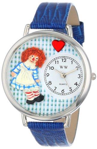 ビンテージ ラガディ・アン ロイヤルブルーレザー シルバーフレーム時計 #U0220004
