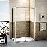 140x70x195cm Mamparas de ducha cabina de ducha 8mm vidrio templado de Aica