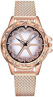 JINN-Women's Watches - Luxury Diamond Flower Ladies Wristwatches Women's Fashion Black Casual Leather Watch Beauty Woman Q...