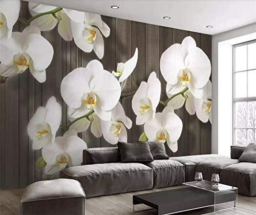 Xinghe waveBenutzerdefinierte 3d Tapete Schmetterling Orchidee Blume Holzmaserung moderne minimalistische Dekoration Malerei Wohnzimmer 3d Tapeten -1㎡