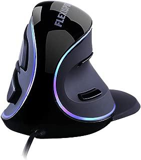 FLEXISPOT エルゴノミクスマウス 腱鞘炎防止 垂直 マウス 高精度 ボタン 持ち運び便利 おしゃれ 疲れにくい 省スペース