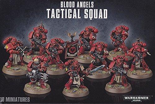 Games Workshop 99120101122Blood Angels Tactical Squad Spielfiguren für Tisch- und Miniaturspiel.