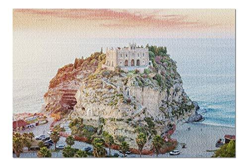 Goodckn Puzzle Classici Tropea, Calabria, Italy - Santa Maria dell'Isola at Sunset A-9008354 Puzzle da 1000 Pezzi