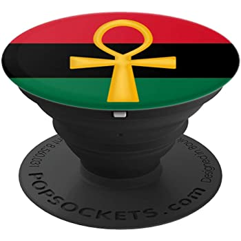 Ankh Pan Afrikan RBG Flag Egyptian African Life Symbol Kemet PopSockets Grip and Stand for Phones and Tablets