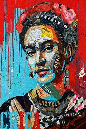 Orlco Art Frida Kahlo portret print graffiti op canvas schilderijen poster en print realismus foto's voor de woonkamer kleurrijk decor 16