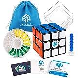 D-FantiX Gan 356 X Magnetic Speed Cube 3x3 Gan 356X Cube 3x3x3 Puzzle Toy (Numerical IPG Version)