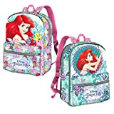 Karactermania Ariel Coral-Reversible 2-in-1 Backpack Kinder-Rucksack, 40 cm, 13 liters, Pink